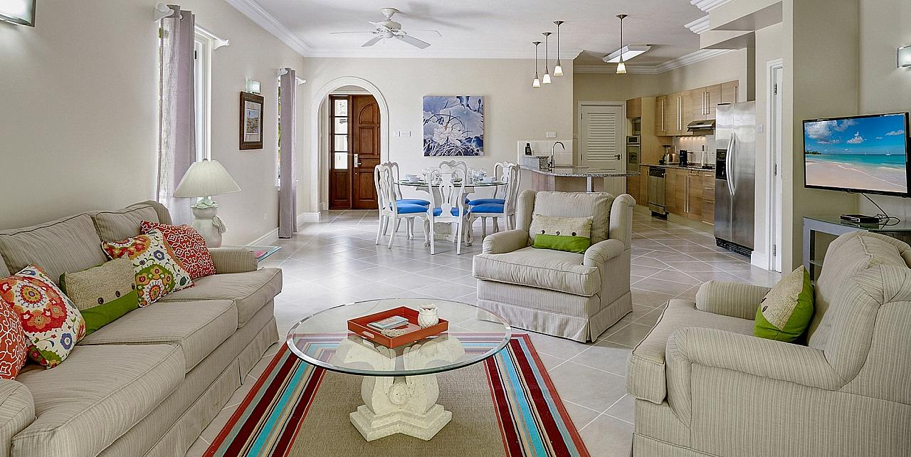 Barbados, The Falls Townhouse 4 - Living Area