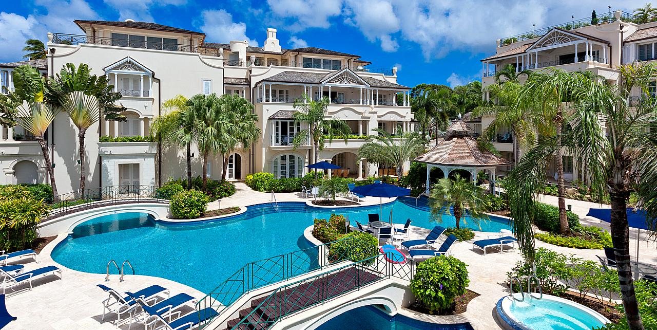 Barbados, Schooner Bay Penthouse 306 - Communal Pool