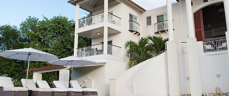 Coral Cove Barbados is a new beachfront apartment complex, located on the beautiful white sands of the popular Paynes Bay beach on the West Coast of Barbados. Number One Coral Cove is a luxurious 2 bedroom beachfront apartment in Barbados surrounded by lush landscaped gardens and is ideally situated being only a short distance from the renowned Sandy Lane Hotel Barbados as well as some of the West Coast's finest entertainment and restaurants. Guests who stay at No 1 Coral Cove Barbados enjoy...